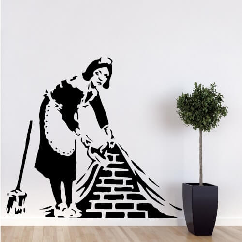 stuepigen-banksy-wallsticker